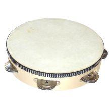Tamburiini, nahkainen, halkaisija 20 cm