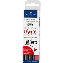 Hand Lettering, Pitt artist -Kynät, 4 kpl
