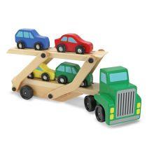 Kuljetusauto neljällä autolla