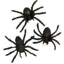 Hämähäkit muovista 4 cm, 10 kpl