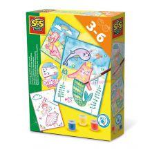 Väritä korttien kuvia - Vesivärit ja kimalletta