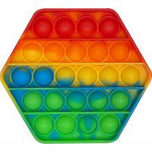 Fidget Pop It – 8-kulmainen / Sateenkaari, 1 kpl