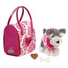Koira ja laukku, pinkki - snautseri