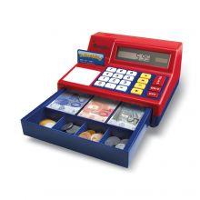 Kassakone laskimella ja rahalla