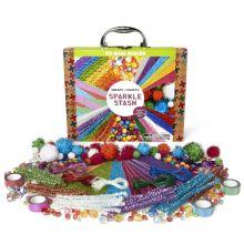 Krea-matkalaukku - Glitter, 350 osaa