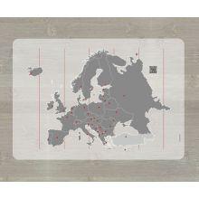 Opettava ruokailualusta - Euroopan kartta