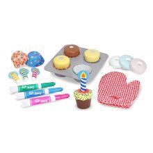 Leikkiruoka - Muffinien leivontasetti