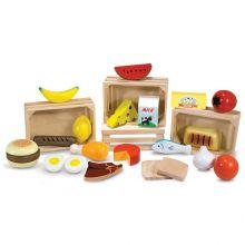 Leikkiruoka - Neljä laatikkoa ruokaa