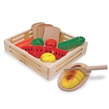 Leikkiruoka - Ruokaa puulaatikossa