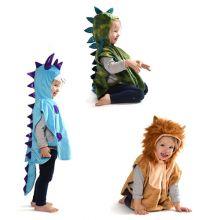 Pukeutuminen - Lasten puku (hupullinen viitta)