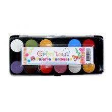 Kasvovärit - Paletti 12 väriä