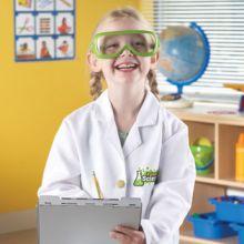 Laboratoriotakki ja lasit