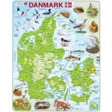 Larsen-palapeli - Tanskan kartta