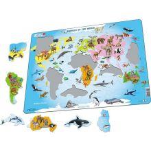 Larsen-palapeli - Maailman eläimet, 28 palasta