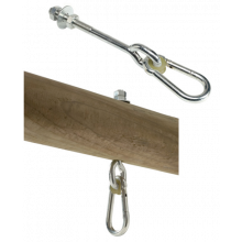Tarvikkeet keinuihin - karabiinikoukku, 160 mm