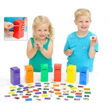 Laita väri postilaatikkoon - Oppimispelit