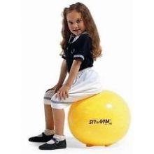 Istuinpallo - Sit'n gym, keltainen, 45 cm