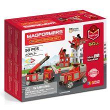 Magformers 50 kpl - Paloasema ja ajoneuvot