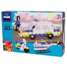 Plus-Plus Basic - 3-in-1 Poliisi, 480 palaa