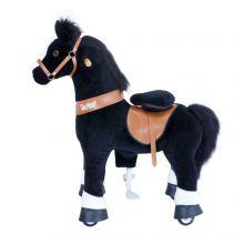 Ratsasta itse - Hevonen, musta ja valkoinen, pieni