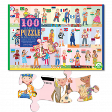 Palapeli sis. 100 palaa - Lapset ympäri maailmaa