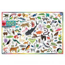 Palapeli sis. 100 palaa - Eläimet ympäri maailmaa
