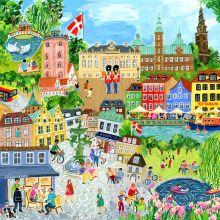 Palapeli 1000 palaa - Kööpenhamina