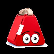 Teebee-laatikko & piirustustarvikkeet - Punainen