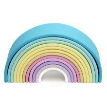 Sateenkaari, silikonista - Pastellivärit, 12 osaa