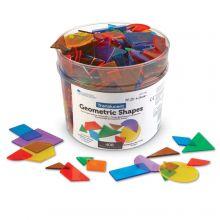 Geometrisiä muotoja, läpinäkyvä - 408 kpl