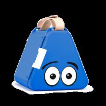 Teebee-laatikko & piirustustarvikkeet - Sininen