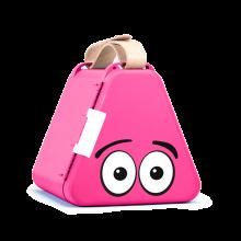 Teebee-laatikko & piirustustarvikkeet - Pinkki