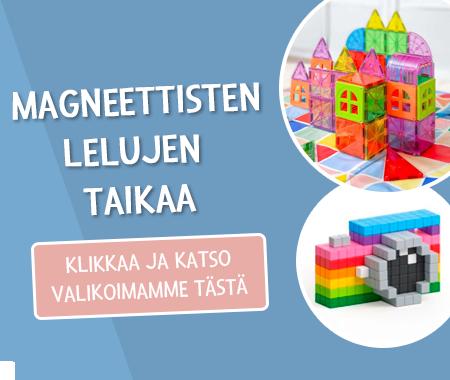 Taianomaisia leikkejä magneettisilla leluilla